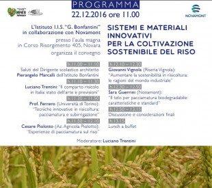 Programma Sistemi e materiali innovativi per la coltivazione sostenibile del riso