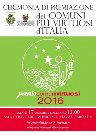 Cerimonia di premiazione dei Comuni più virtuosi d'Italia