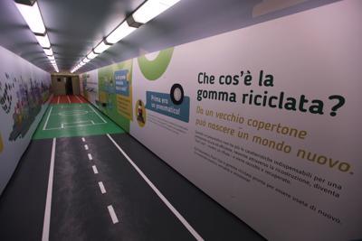 Con Treno Verde la città di gomma riciclata Ecopneus arriva in Sicilia