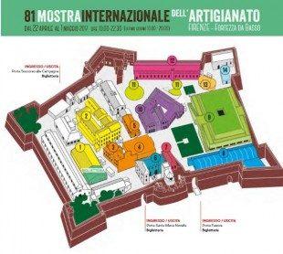 Mappa Mostra dell'Artigianato 2017