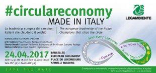 Legambiente e i 100 Campioni dell'economia circolare italiana incontrano a Bruxelles