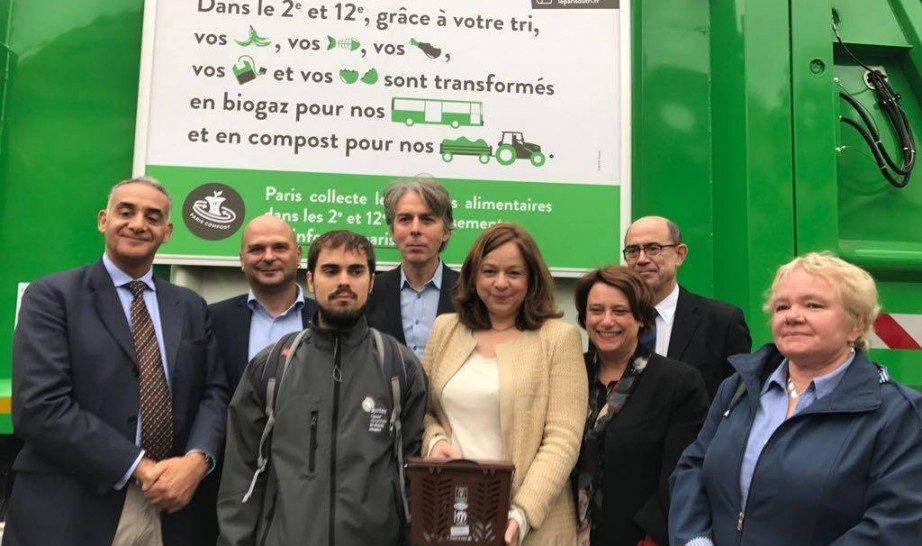 Novamont partner della citta' di Parigi per la raccolta della frazione umida dei rifiuti con sacchi in Mater-Bi