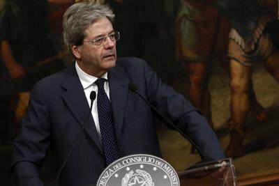 """Gentiloni: """"Green economy pilastro dell'Italia"""""""