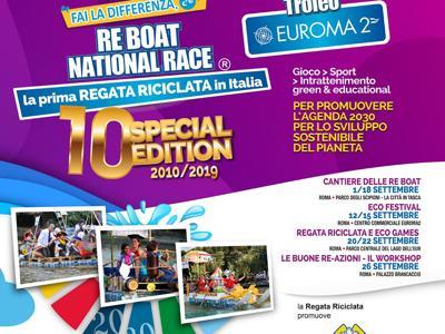 Torna a Roma la Re Boat National Race, la regata riciclata