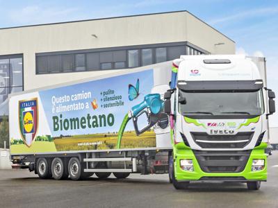 Lidl, Iveco, Lc3 ed Edison presentano primi mezzi a biometano