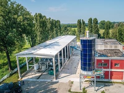 Bioessicamento dei fanghi di depurazione, sperimentazione di Gruppo Cap